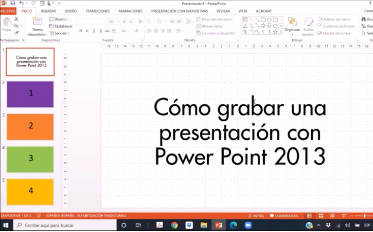 Cómo convertir una presentación de Power Point en video