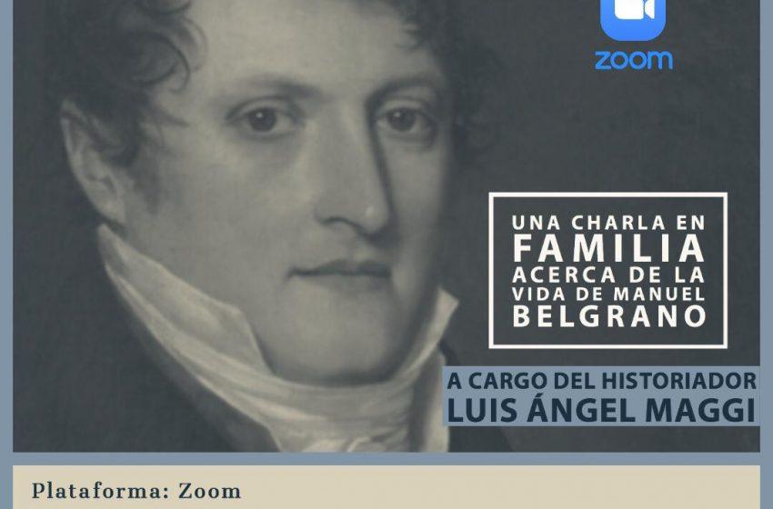 Charla vía Zoom sobre Manuel Belgrano