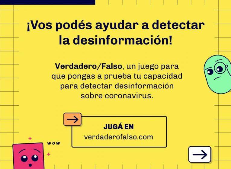 Verdadero / Falso: un juego para aprender a detectar fake news