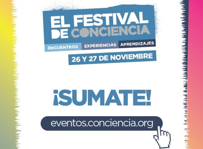 Festival de Conciencia: talleres y paneles sobre el trabajo en red